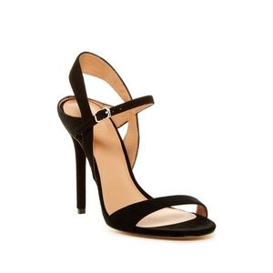 New Halston Heritage Ainsley Suede Sandal